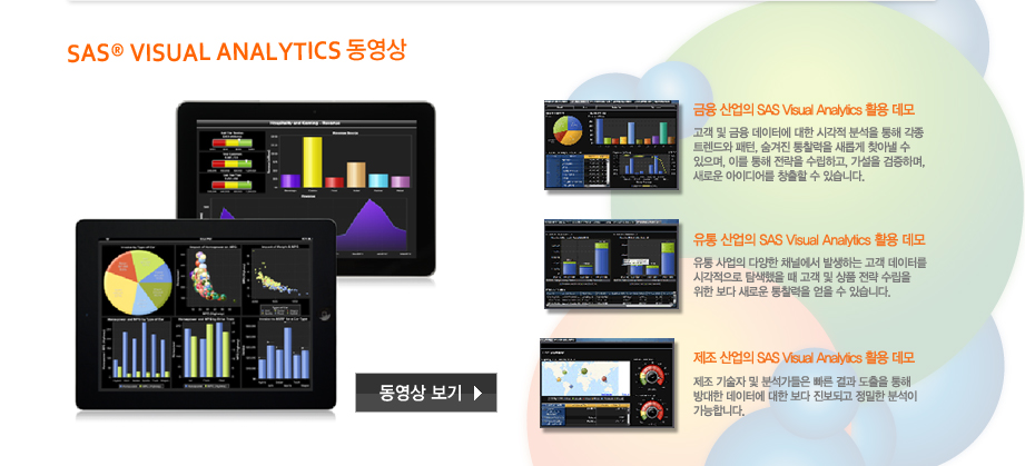 SAS® VISUAL ANALYTICS동영상